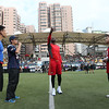 2014 NFL University Bowl VI - Day 2 - Jerry Rice makes the coin toss for the 2014 NFL University Bowl VI game between Guangzhou Sport University and Beijing Sports University.