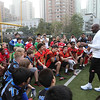 2014 NFL University Bowl VI - Day 1 - Local Shanghai tackle teams had the opportunity to participate in on-field clinics and learn some football fundamentals from San Francisco 49ers Legend and NFL Hall of Fame wide receiver, Jerry Rice.