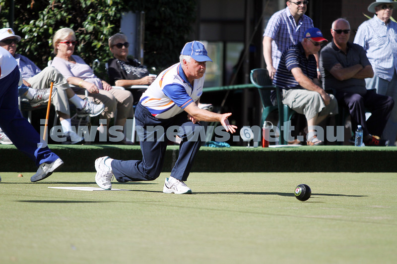 23-2-14. Victorian Jewish Lawn Bowls Championships. Caulfield Park Lawn Bowls Club. Mike Brown. Photo: Peter Haskin
