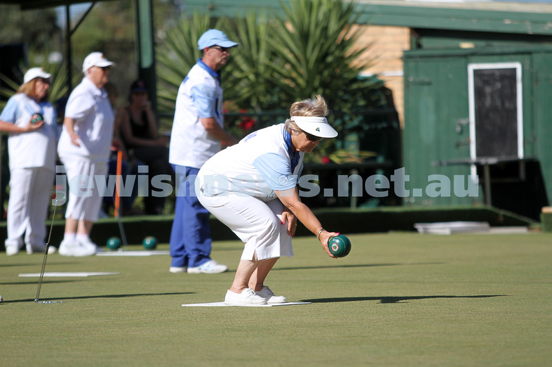 23-2-14. Victorian Jewish Lawn Bowls Championships. Caulfield Park Lawn Bowls Club. Gabby Cohen during the semi final. Photo: Peter Haskin