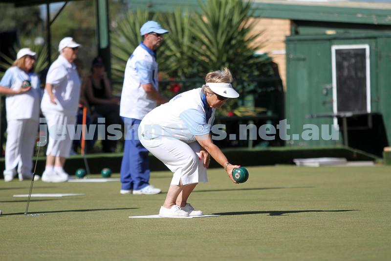 23-2-14. Victorian Jewish Lawn Bowls Championships. Caulfield Park Lawn Bowls Club. Gabby Cohen during the semi final. Photo: Peter Haskin