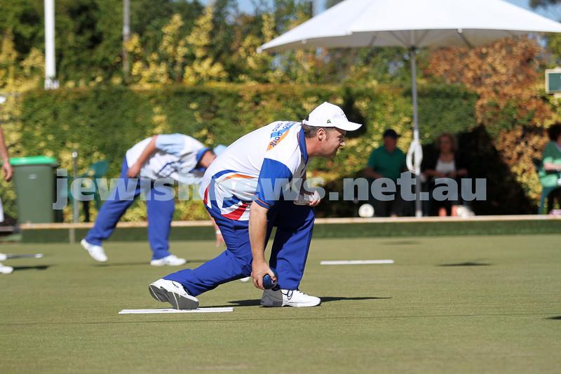 23-2-14. Victorian Jewish Lawn Bowls Championships. Caulfield Park Lawn Bowls Club. Runner up,  Jason Kurta. Photo: Peter Haskin