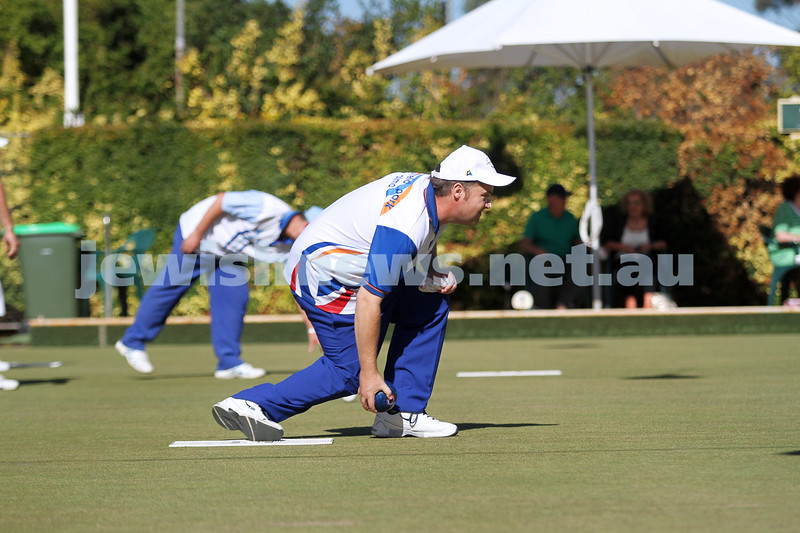23-2-14. Victorian Jewish Lawn Bowls Championships. Caulfield Park Lawn Bowls Club. Runner up,  Jason Kurta. Photo: Peter Haskin