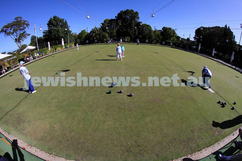23-2-14. Victorian Jewish Lawn Bowls Championships. Caulfield Park Lawn Bowls Club. Photo: Peter Haskin