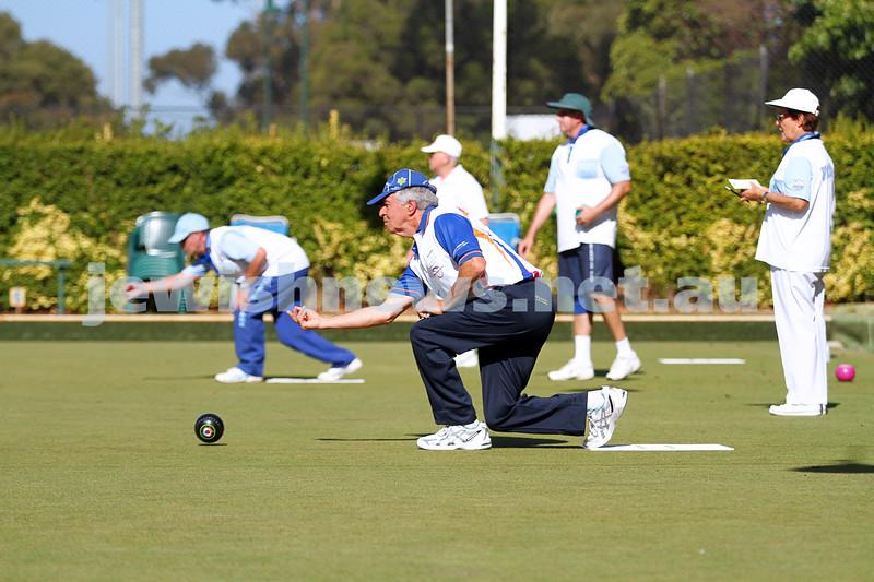 23-2-14. Victorian Jewish Lawn Bowls Championships. Caulfield Park Lawn Bowls Club. Mike Brown. Photo: Peter Haskin