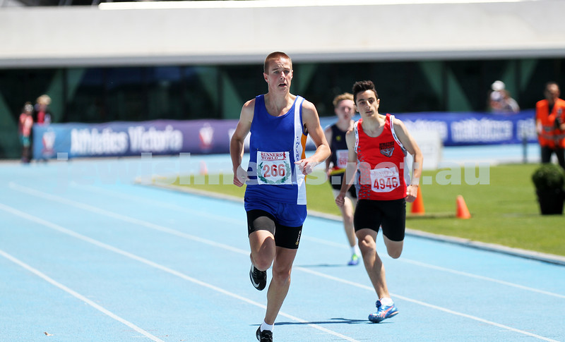16-2-14. Victorian Junior Athletics Championships. Lakeside Stadium. Photo: Peter Haskin