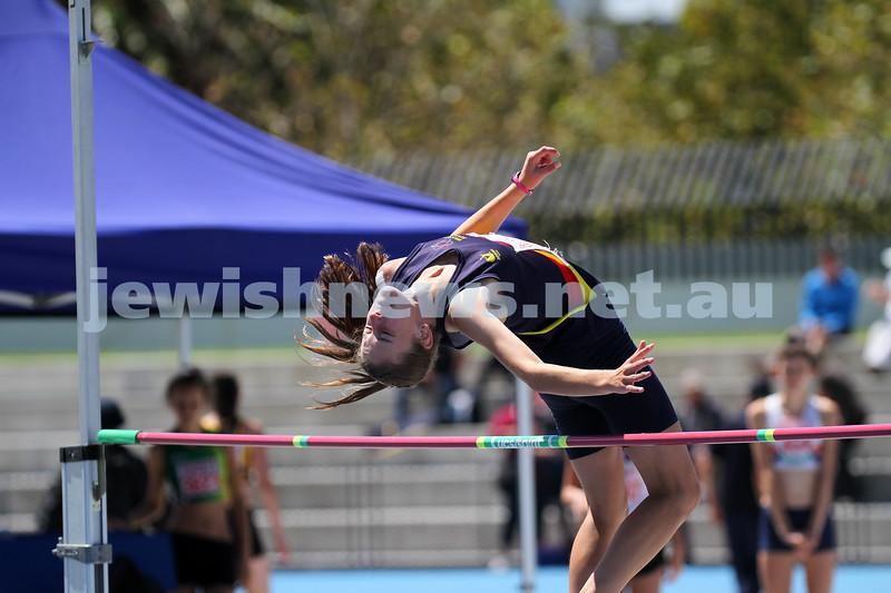 16-2-14. Victorian Junior Athletics Championships. Lakeside Stadium. Women's high jump. Photo: Peter Haskin
