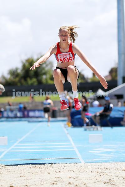 16-2-14. Victorian Junior Athletics Championships. Women U 15 Triple Jump. Lakeside Stadium. Photo: Peter Haskin