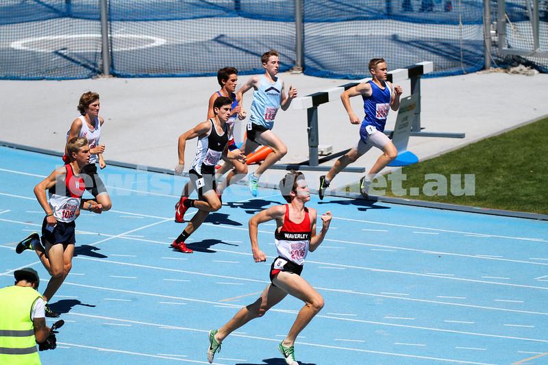 16-2-14. Victorian Junior Athletics Championships. Lakeside Stadium. Photo: Peter Haskin