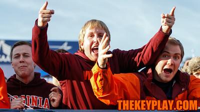 Hokies fans in the North Endzone Lawn cheer on the team. (Mark Umansky/TheKeyPlay.com)