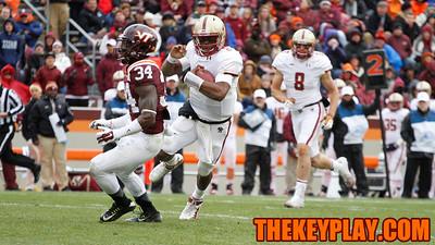 Boston College QB Tyler Murphy runs with the ball. (Mark Umansky/Thekeyplay.com)