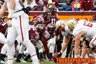 The defense gets ready for Boston College's next play. (Mark Umansky/Thekeyplay.com)