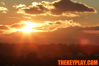 The Blacksburg sunset as seen from the top of Lane Stadium.
