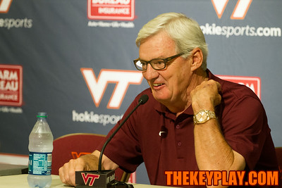 Frank Beamer at Virginia Tech's media day.