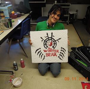 Creating a ceiling tile for Huslia School