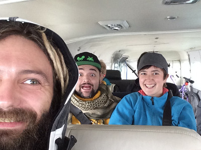 First Flight Selfie!  Fairbanks to Tanana