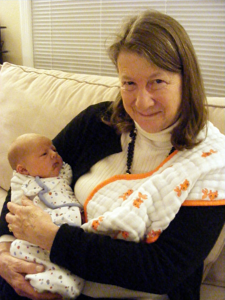 Nonni snuggles Anna