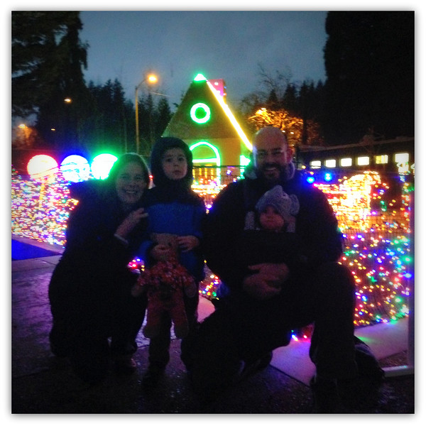 Starting off the season with Zoo Lights!  Our honored guest: Barney Bear, the special bear from Nate's preschool who spends a week with each child throughout the year.