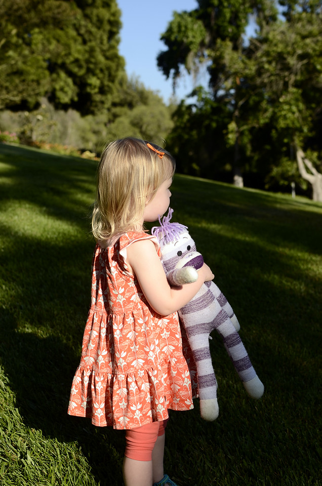 """""""Purple Monkey"""" accompanied Anna wherever she went, and by the end of the trip was a bit dustier and """"loved in."""""""