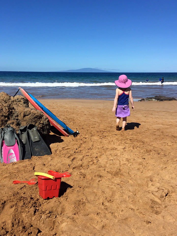 fins, snorkel gear, boogie boards, and sand toys at the ready