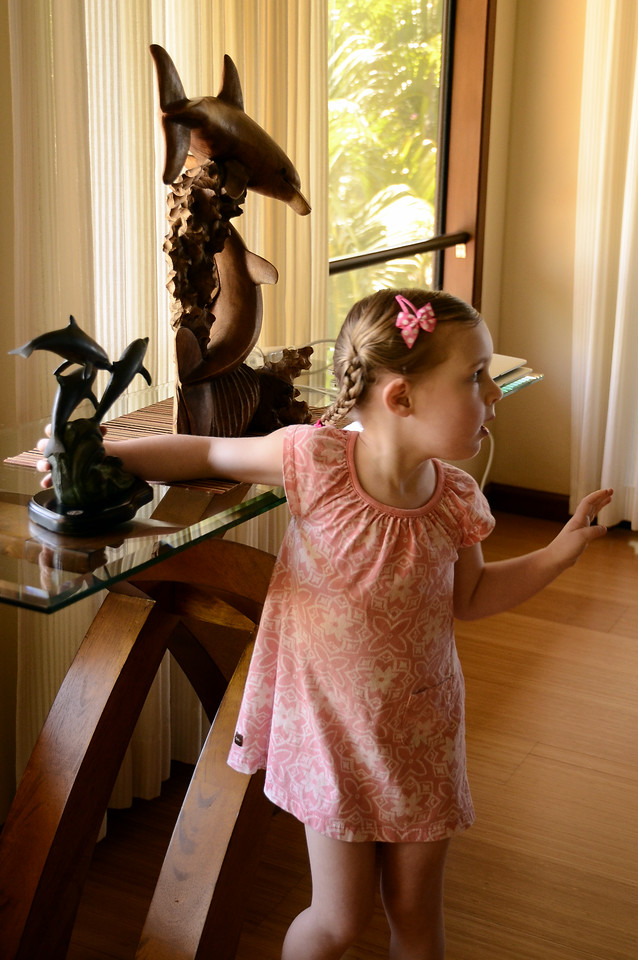 She loved the dolphin sculptures