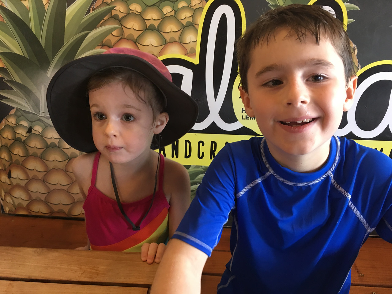 Smoothies, incredible lemonade, and acai bowls at the fabulous Wow Wow Hawaiian Lemonade after our first beach morning.  This became an addictive tradition!