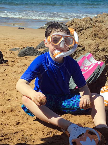 our amazing snorkeling 7 year old