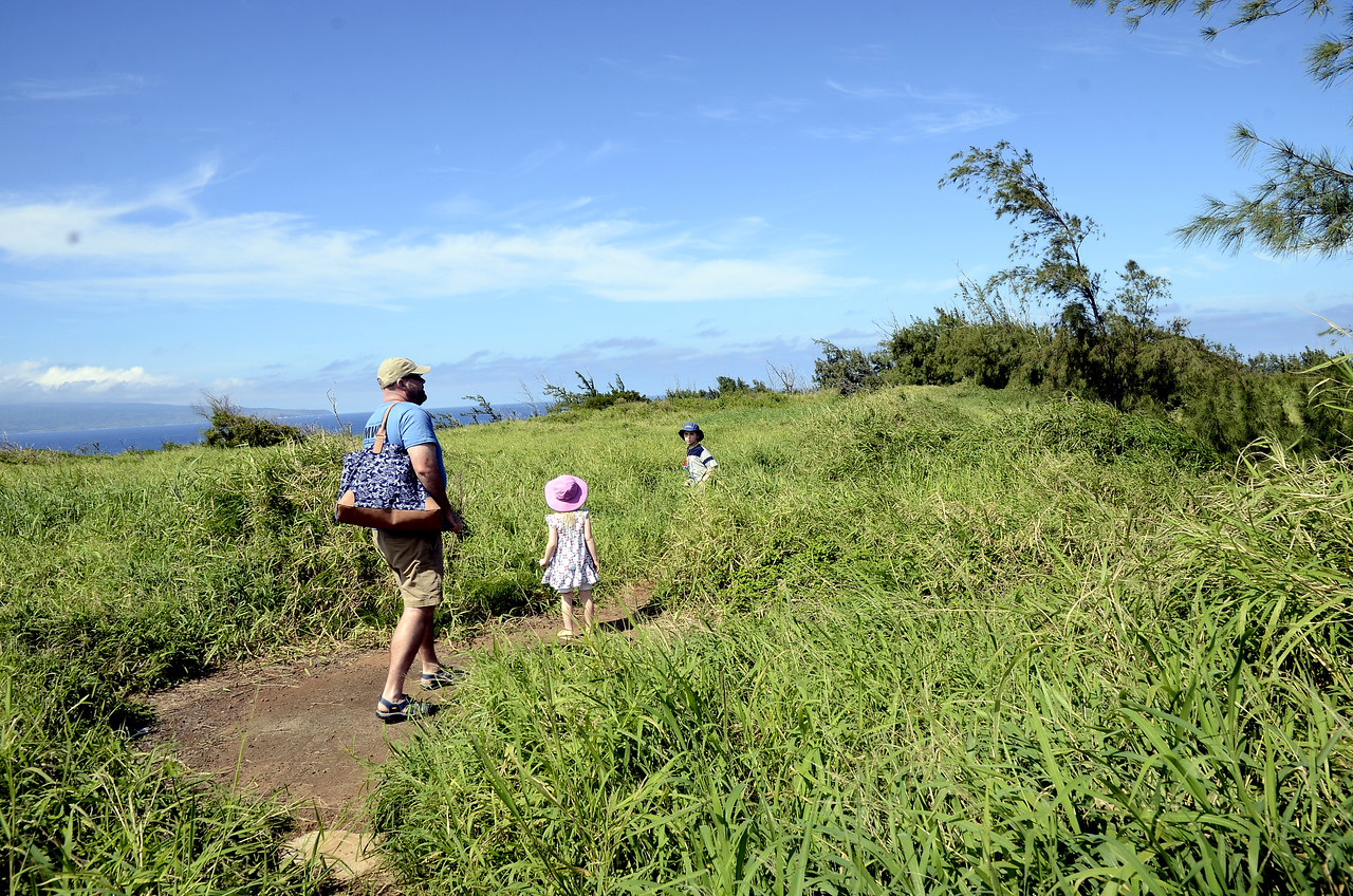 Day #3: drive out through west Maui -- around and along the top of the west Maui mountains, complete with hike north of Kapalua to the two-tiered tidepools of Honoloa