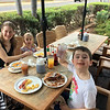 First morning - breakfast out at Caffe Kihei, a great spot right acorss from the water