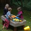 Sandbox in the back yard,