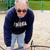 Papa on the merry go round.
