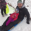 Sledding round one at Pendleton Park, first day of Christmas break