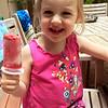 Strawberry lemonade Popsicle - Anna's very favorite!
