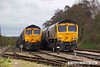 140407-031     GBRf class 66/7's no's 66741 & 66729 Derby County are seen side by side in Thoresby sidings.