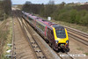 140408-005     Cross Country Trains class 220 Voyager unit no 220014 is seen passing Tupton with 1O88, the 11.35 Newcastle to Southampton Central.