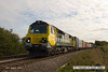 140816-016     The doyen of the class, Freightliner class 70 no 70001 Powerhaul, captured passing Hoby with diverted Intermodal 4M88, 04.27 Felixstowe North F.L.T. to Lawley Street F.L.T..