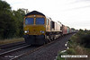 140816-013     GB Railfreight class 66/7 no 66741, captured passing Frisby, powering diverted Intermodal 4M21, 03.15 Felixstowe North to Trafford Park Euro Terminal.