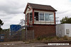 140816-052     Frisby signal box, at the site of the former Midland Railway station on the Leicester to Peterborough line. The station was opened on Ist January 1847 and closed by BR on 3rd July 1961