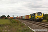 140816-032     Freightliner Powerhaul class 70 no 70009 passes Hoby with yet another load of diverted boxes, train 4L93,  09.56 Crewe Basford Hall to Felixstowe north F.L.T..
