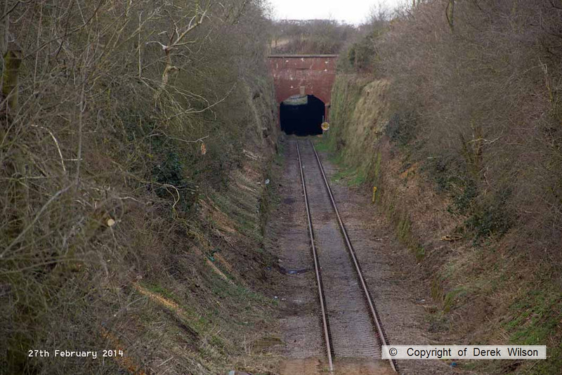 140227-016     This view of the Bevercotes branch is taken from Brake Lane, looking north towards the southern portal of the tunnel.
