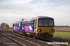 140210-031     Northern Rail class 144 unit no 144011 approaches Rushey sidings level crossing with 2P67, the 11.19 Scunthorpe to Lincoln.