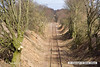 140221-022     The former Bevercotes colliery branch line, viewed looking north from Bridle Lane, Walesby. Same as the previous image, but zoomed in a bit closer.