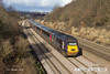 140117-002    Cross Country Trains class 43, HST powercar no 43378 is  seen leading 1V54, the 06.32 Dundee to Plymouth, as it speeds past Hasland.