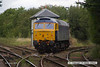 140704-012     Class 47 no 47815 Great Western and is seen passing Shirebrook Junction, heading to Warsop Junction, with GBRf route learner 0Z59, the 12.04 Toton North yard to Ironville junction.