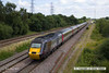 140709-012     A Cross Country HST set led by class 43 power car no 43321, is seen passing North Stafford Junction with 1V50, the 06.06 Edinburgh to Plymouth.
