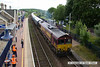 140704-035     DB Scchenker class 66/0 no 66194 is captured at Shirebrrok as it pulls away with train 4Z66, the 14.34 Shirebrook, WH Davis to Milford west sidings.