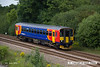 140709-017     East Midlands Trains class 153 unit no 153308 is seen passing North Stafford Junction with 1K08, the 11.26 Crewe to Derby.