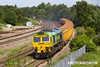 140606-003     Two-tone green liveried Freightliner class 66/5 no 66522 passes Clay Cross on the Erawash line, powering 6Z87, the 06.17 Tyne dock to Mountsorrel, empty ballast boxes.
