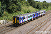 140630-023     Northern Rail class 150 unit no 150223 passes Hasland, Chesterfield, with 1Y36, the 14.17 Nottingham to Leeds.