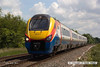 140612-008     East Midlands Trains class 222 Meridian unit no 222017 passes Frisby with 5Z17, the 09.41 London St Pancras to Syston to Cricklewood depot.